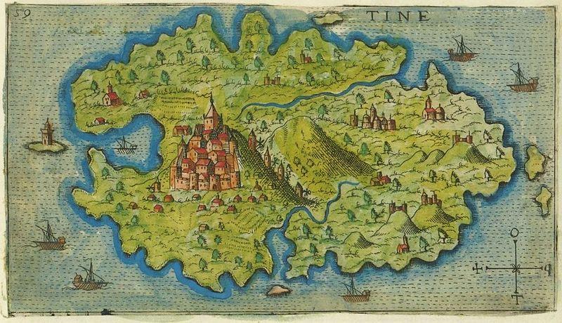 Map-of-Tinos-by-Giacomo-Franco-1597